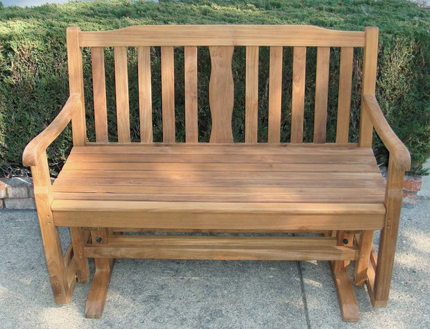 Teak Glider Bench - Toms Outdoor Furniture