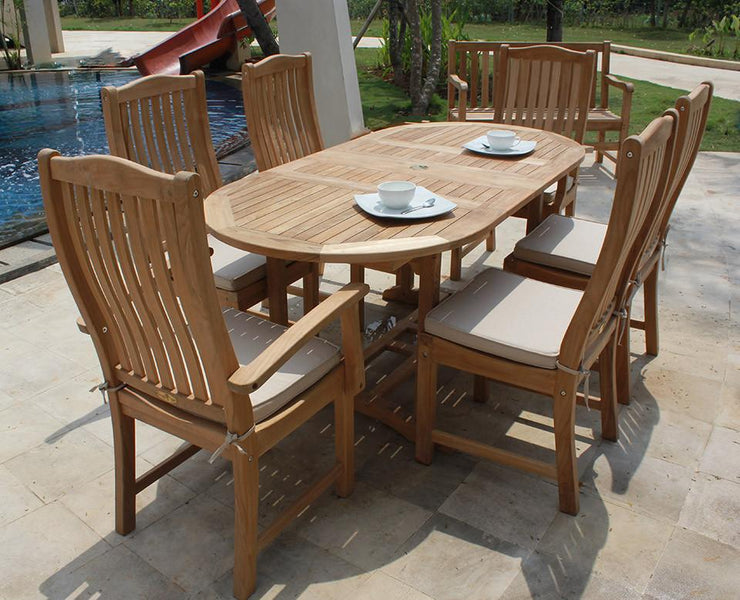 Deluxe Oval Double Extension Table Small - Toms Outdoor Furniture