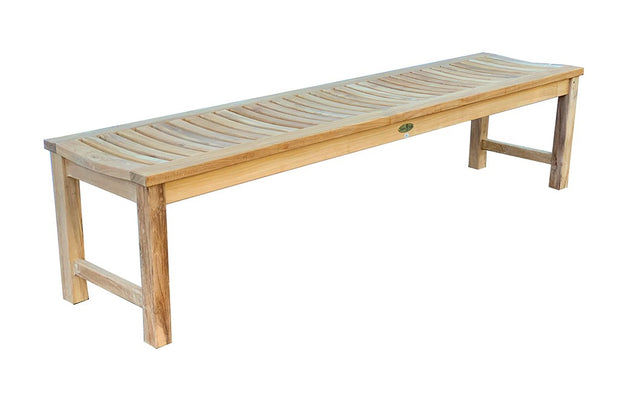 Madison Backless Teak Bench 6F - Toms Outdoor Furniture