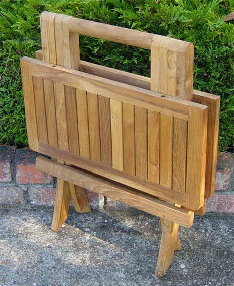 Teak Folding Picnic End Table - Toms Outdoor Furniture