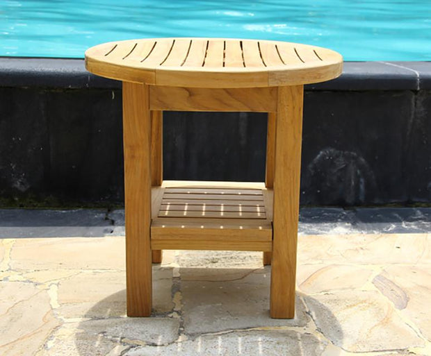 Round Shower Bench - Toms Outdoor Furniture