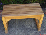 Single Seat Teak Bench - Toms Outdoor Furniture