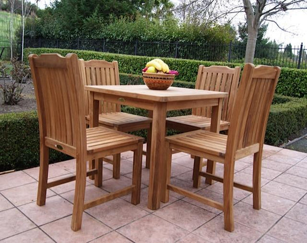 Teak Dining Table Square - Toms Outdoor Furniture