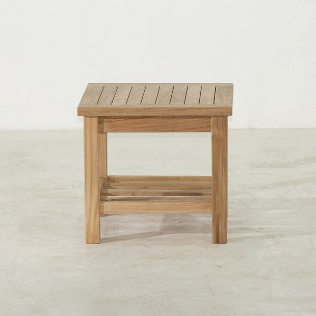 Square End Table With Shelf - Toms Outdoor Furniture