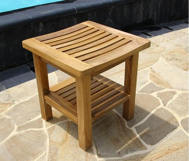 Square Shower Bench - Toms Outdoor Furniture