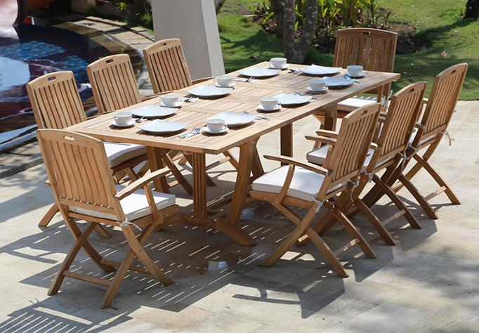 Stinson Extension Table Set 9PC - Toms Outdoor Furniture