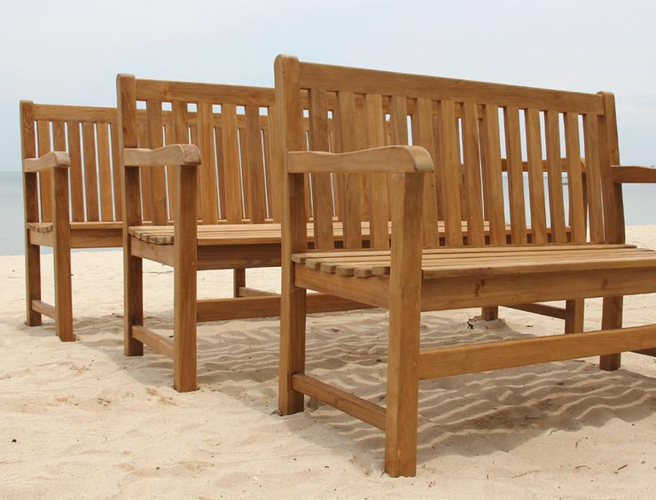 Classic Teak Bench 4f - Toms Outdoor Furniture