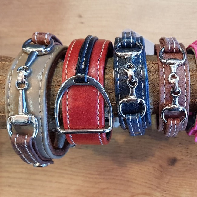 Equestrian Leather bracelets with Bits