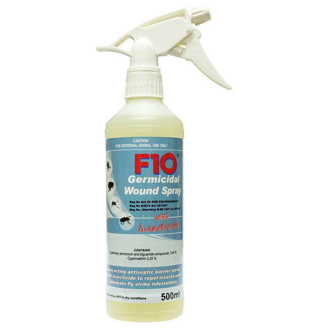 F10 Germicidal Wound Spray with Insecticide 500ml