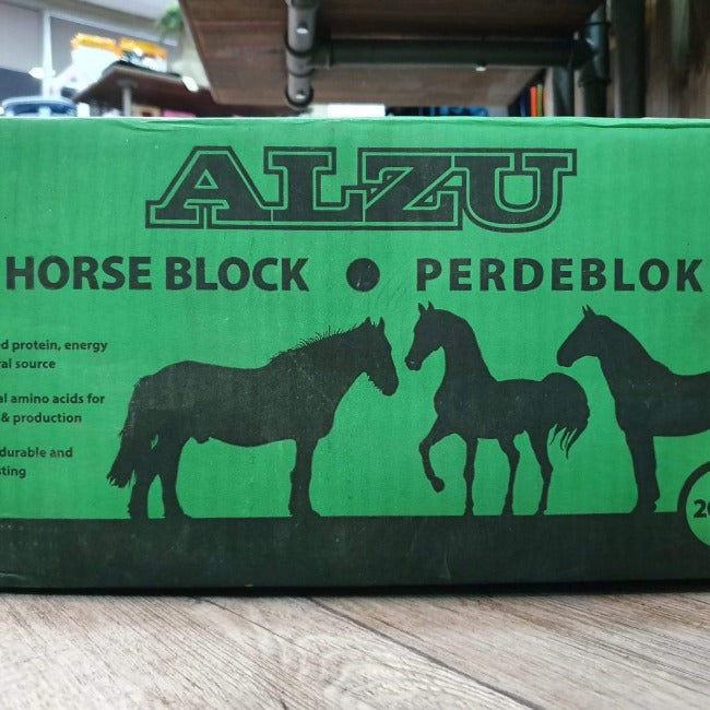 Horse block with apple