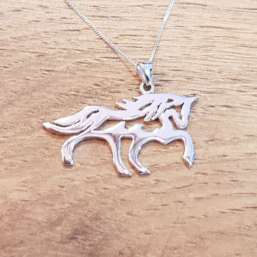 Show Horse Outline & Chain Silver