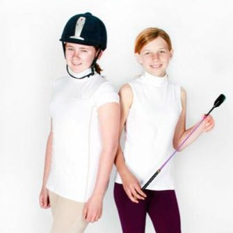 Kiddies Lycra White Sleeveless Show Shirt
