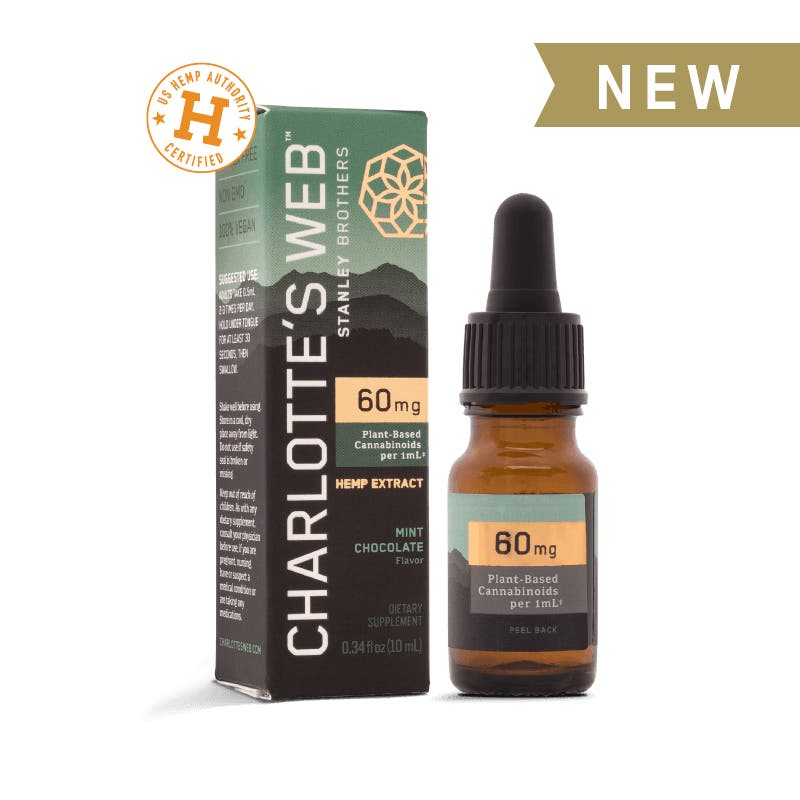 Charlotte's Web - Starter Size CBD Oil  60mg CBD/1mL - Elevated Wellness LLC