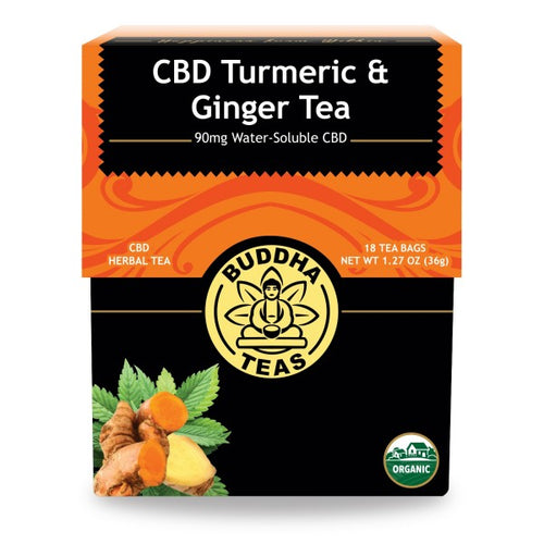 Budda Tea - CBD Turmeric & Ginger Tea - Elevated Wellness LLC