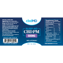 Load image into Gallery viewer, CbdMD 500MG sleep aid w/ Melatonin - Elevated Wellness LLC