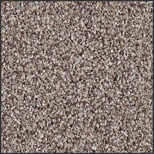 Close up carpet swatch of a light brown and dark brown carpet by Shaw Floors.