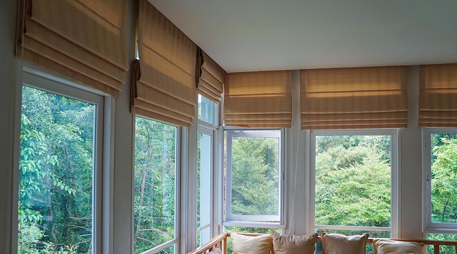Graber Roman Shades available at Standard Paint & Flooring