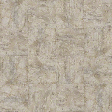 Product Sample of Shaw Floors Resort Tile Resilient Residential Unit flooring in the color Oatmeal                        available at Standard Paint and Flooring.