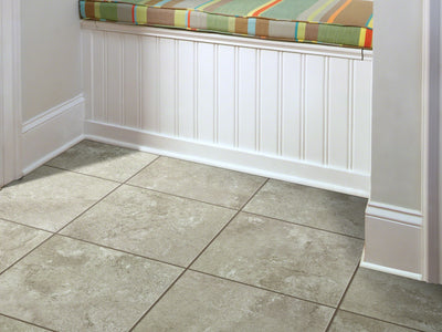 Room Image of Shaw Floors Resort Tile Resilient Residential Unit flooring in the color Beachscape                     available at Standard Paint and Flooring.