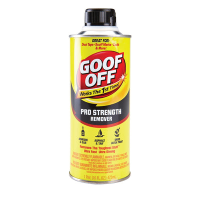 Goof Off Pro Strength Remover pint size, available at Standard Paint & Flooring.