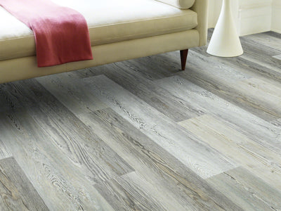 Room Image of Shaw Floors Rainier Resilient Residential Unit flooring in the color Ashland Pine available at Standard Paint and Flooring.