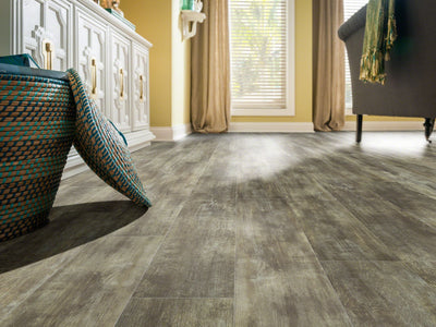 Room Image of Shaw Floors Champion Plank Resilient Residential Unit flooring in the color Dedication                     available at Standard Paint and Flooring.