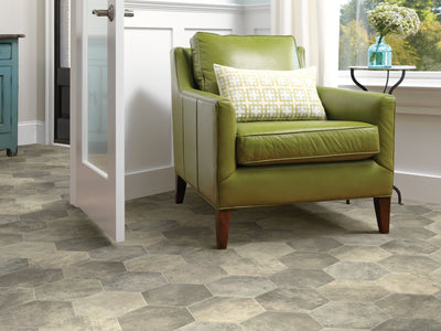 Room Image of Shaw Floors Apollo Resilient Residential Roll flooring in the color Troy available at Standard Paint and Flooring.