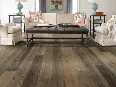 Room Image of Shaw Floors Messina Hd Plus Resilient Residential Unit flooring in the color Baia Oak available at Standard Paint and Flooring.