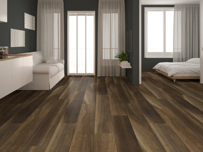 Room Image of Shaw Floors Cathedral Oak 720C Plus Resilient Residential Unit flooring in the color Ravine Oak available at Standard Paint and Flooring.