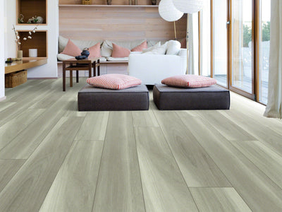 Room Image of Shaw Floors Cathedral Oak 720C Plus Resilient Residential Unit flooring in the color Misty Oak available at Standard Paint and Flooring.