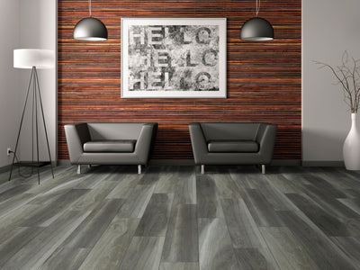 Room Image of Shaw Floors Cathedral Oak 720C Plus Resilient Residential Unit flooring in the color Charred Oak available at Standard Paint and Flooring.