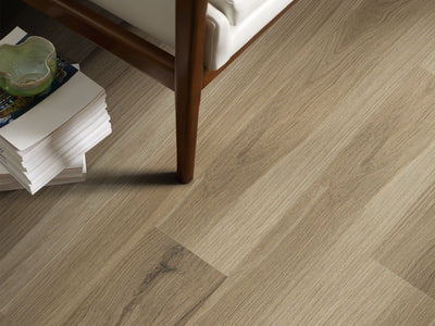 Room Image of Shaw Floors Vigor 512G Plus Resilient Residential Unit flooring in the color Almond Oak available at Standard Paint and Flooring.