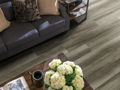 Room Image of Shaw Floors Vigor 512G Plus Resilient Residential Unit flooring in the color Oyster Oak available at Standard Paint and Flooring.