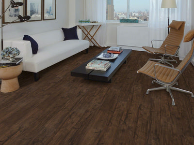 Room Image of Shaw Floors Vigor 512G Plus Resilient Residential Unit flooring in the color Umber Oak available at Standard Paint and Flooring.