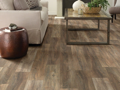 Room Image of Shaw Floors Pantheon Hd Plus Resilient Residential Unit flooring in the color Sorrento available at Standard Paint and Flooring.