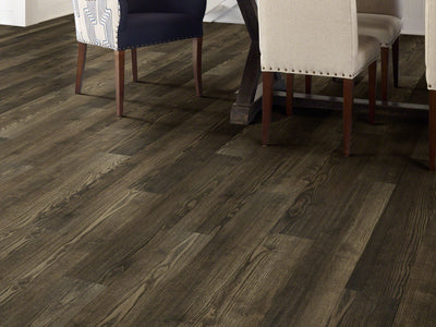Room Image of Shaw Floors Sustain 12 Mil Resilient Residential Unit flooring in the color Burlwood available at Standard Paint and Flooring.