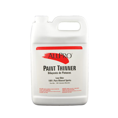 ALLPRO paint thinner gallon, available at Standard Paint & Flooring.
