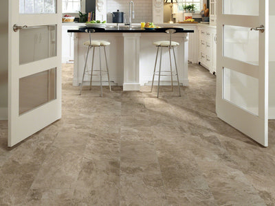 Room Image of Shaw Floors Artisan 18X18 Style Ceramic Solutions flooring in the color Yadkin River Hickory available at Standard Paint and Flooring.