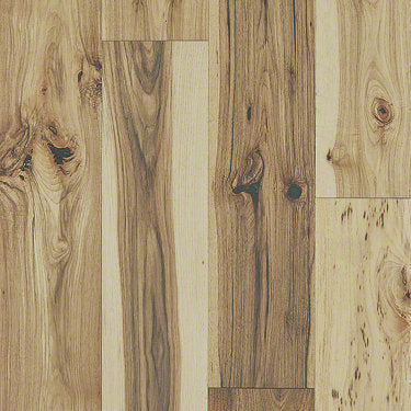 Product Sample of Shaw Floors Traders Junction Hardwood  flooring in the color Natural Hickory available at Standard Paint and Flooring.