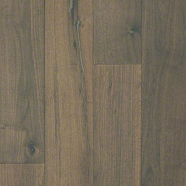 Product Sample of Shaw Floors Traders Junction Hardwood  flooring in the color Rich Walnut available at Standard Paint and Flooring.