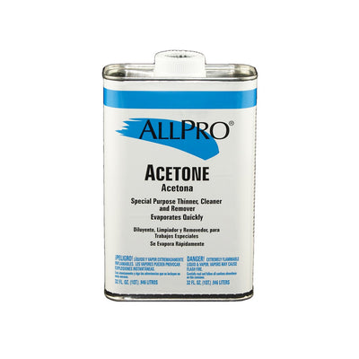 Quart of ALLPRO Acetone, available at Standard Paint & Flooring.