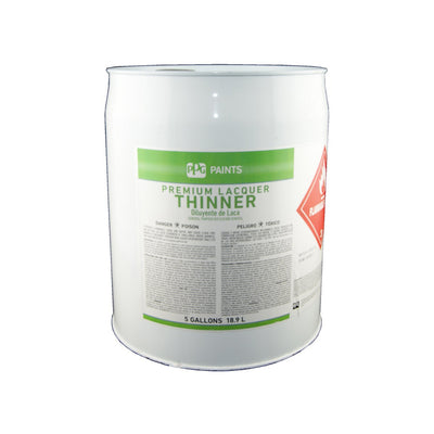Five gallons of PPG paint's premium lacquer thinner, available at Standard Paint & Flooring.