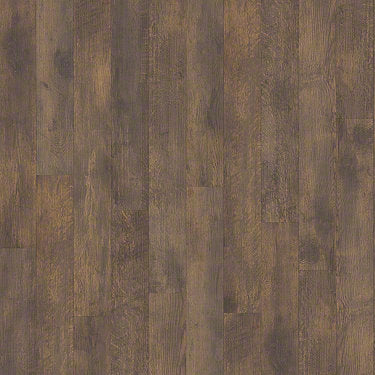 Product sample of Shaw Floors Antiquation Style laminate flooring in the color Wine Barrel available at Standard Paint and Flooring.