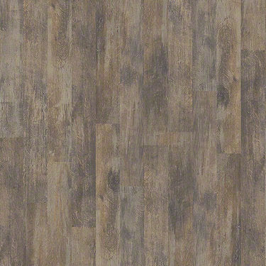 Product sample of Shaw Floors Antiquation Style laminate flooring in the color Weathered Wall available at Standard Paint and Flooring.
