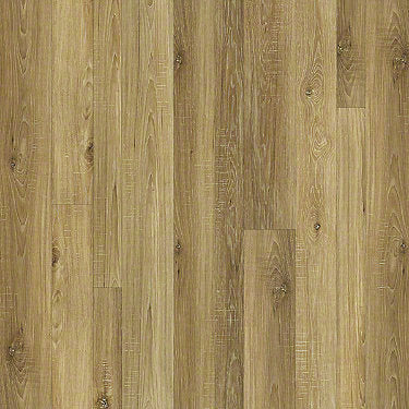 Product sample of Shaw Floors Castle Ridge Style laminate flooring in the color Anneal available at Standard Paint and Flooring.