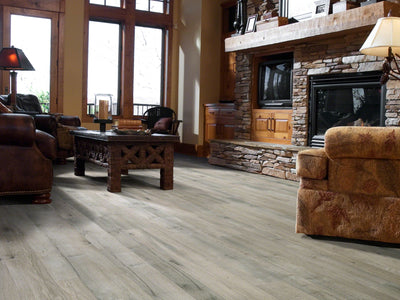 Room Image of Shaw Floors Trestle Ridge Style laminate flooring in the color Yadkin River Hickory available at Standard Paint and Flooring.
