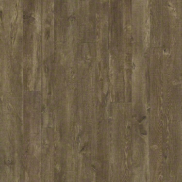Product sample of Shaw Floors Castle Ridge Style laminate flooring in the color Galvanize available at Standard Paint and Flooring.