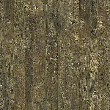 Product sample of Shaw Floors Castle Ridge Style laminate flooring in the color Brazen available at Standard Paint and Flooring.
