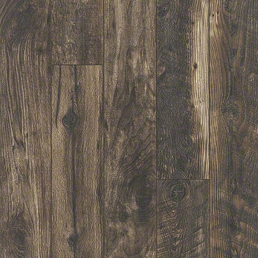 Product sample of Shaw Floors Carriage House Style laminate flooring in the color Variety Mocha available at Standard Paint and Flooring.