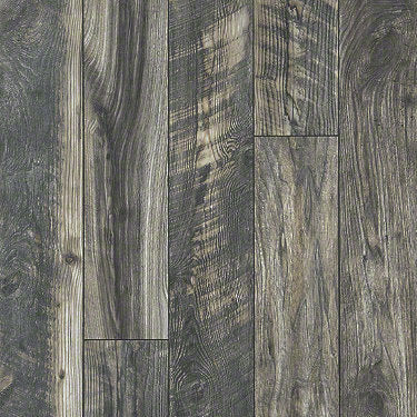 Product sample of Shaw Floors Carriage House Style laminate flooring in the color Blended Night available at Standard Paint and Flooring.
